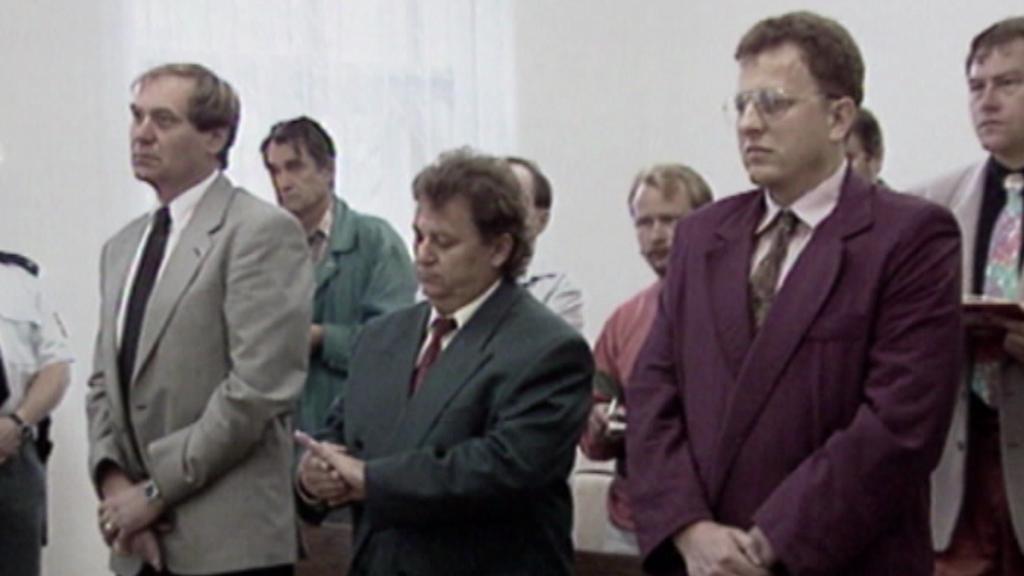 Soud s L. Zifčákem na archivním záběru
