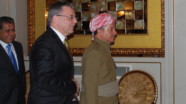Ministr Zaorálek a prezident autonomního Kurdistánu Masúd Barzání