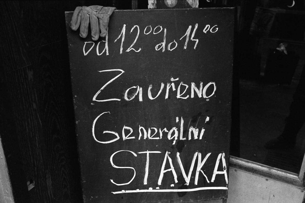 Generální stávka v listopadu 1989