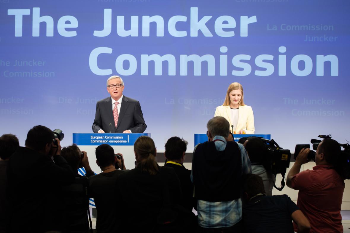 Jean-Claude Juncker představuje svoji komisi
