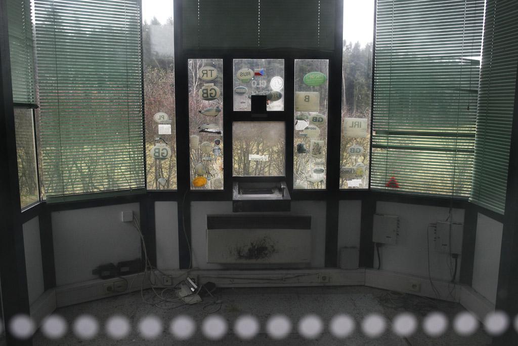 Policejní budka na bývalém dálničním přechodě Rozvadov