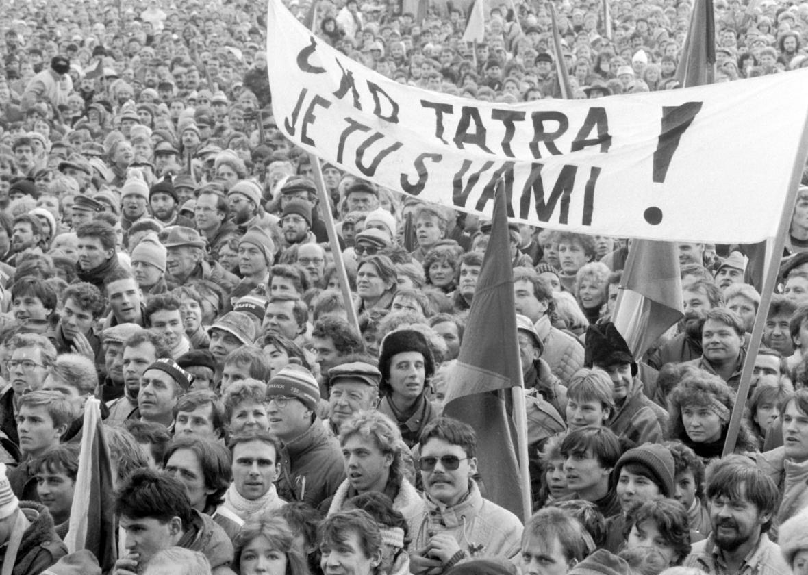 Demonstrace na Letenské pláni, listopad 1989