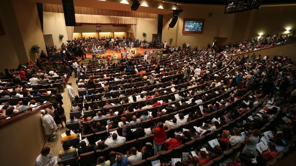 Sál baptistického kostela v St. Louis