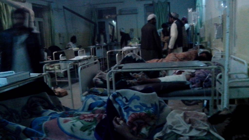 Zranění lidé v jedné z paktických nemocnic