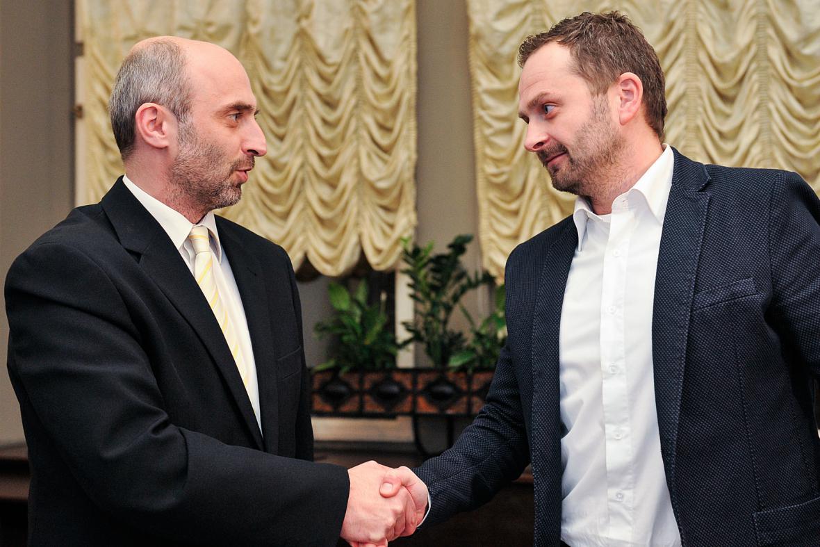 Jiří Korytář a Tibor Batthyány podepsali koaliční smlouvu