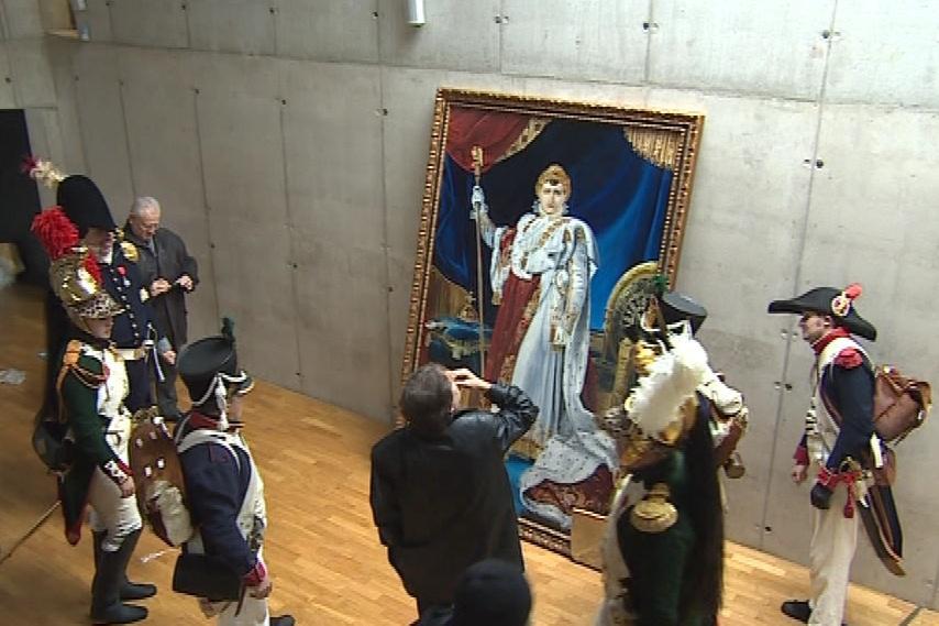 Napoleonův obraz zůstane v Mohyle míru