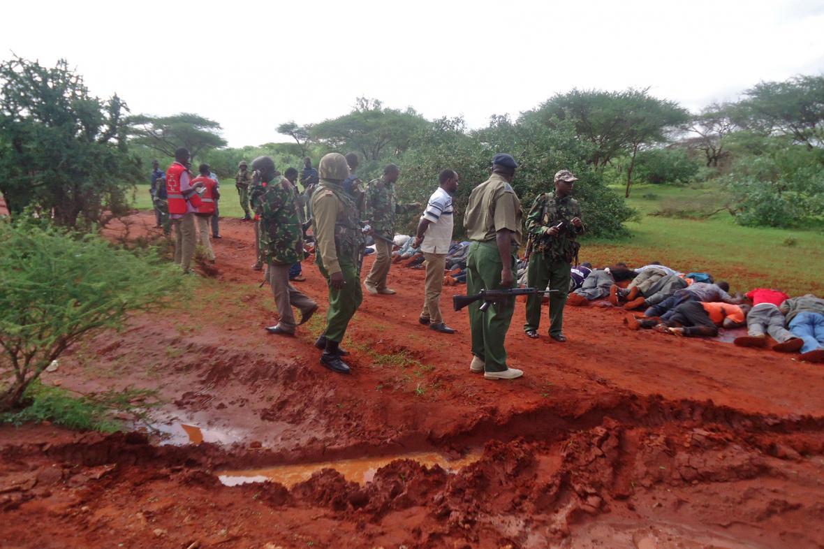 Oběti atentátu na autobus v Keni