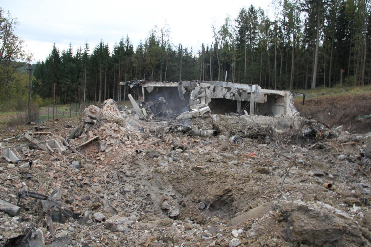 Vybuchlý muniční sklad