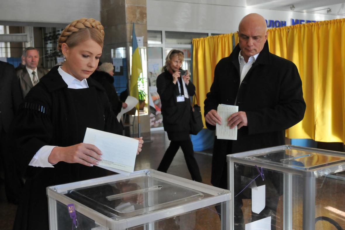 Julia Tymošenková u voleb