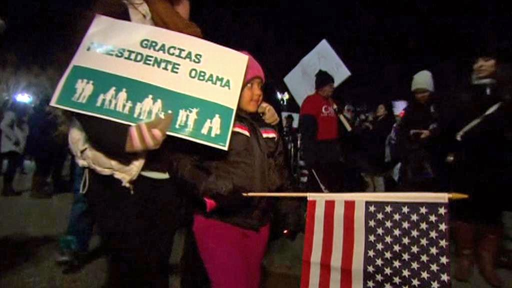 Imigranti děkují prezidentu Obamovi