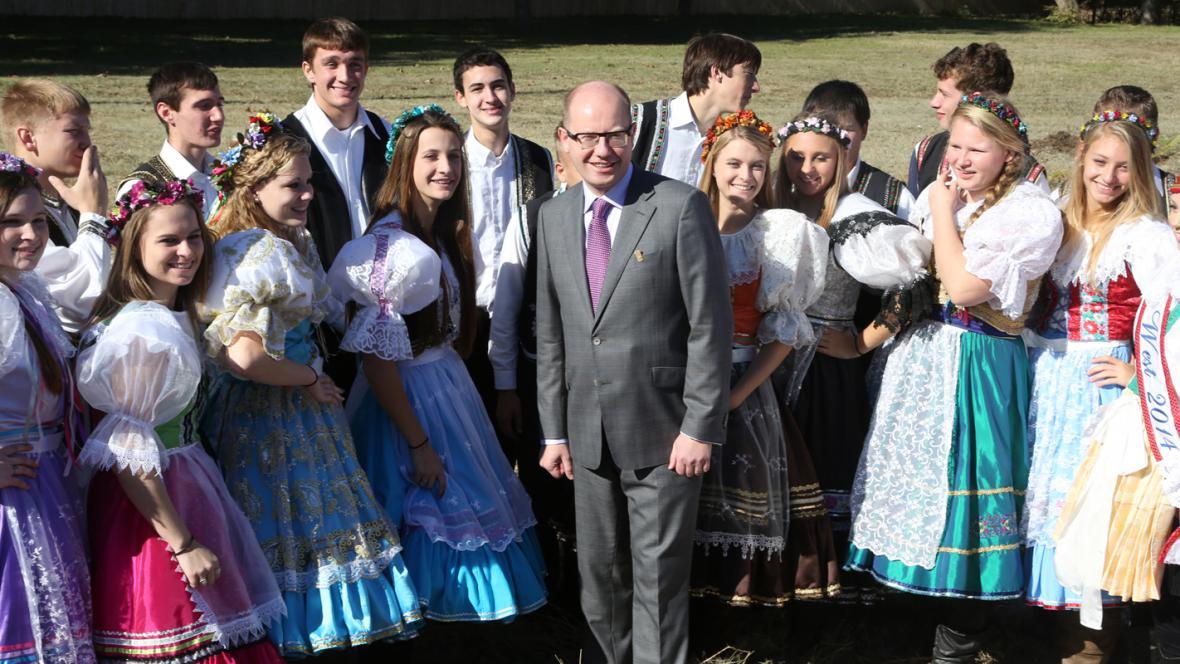 Bohuslav Sobotka se studenty z Westu