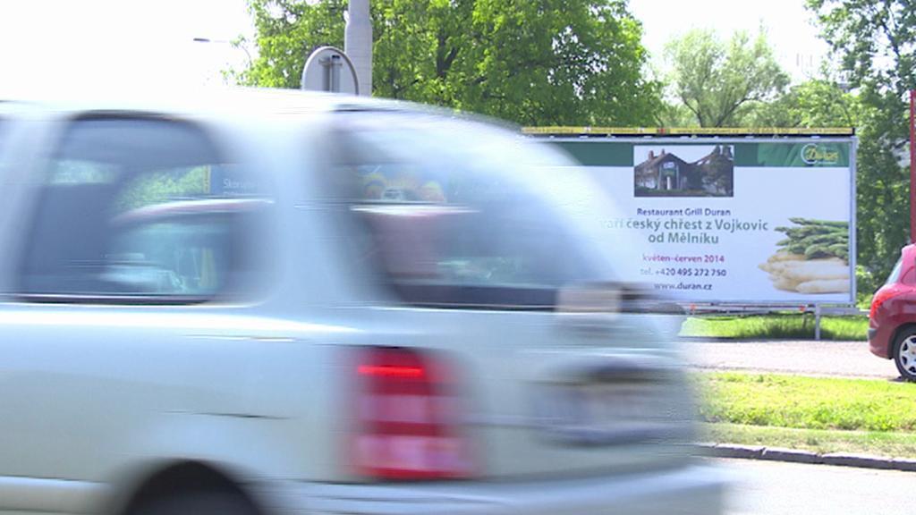 Reklama na vozíku - červen 2014