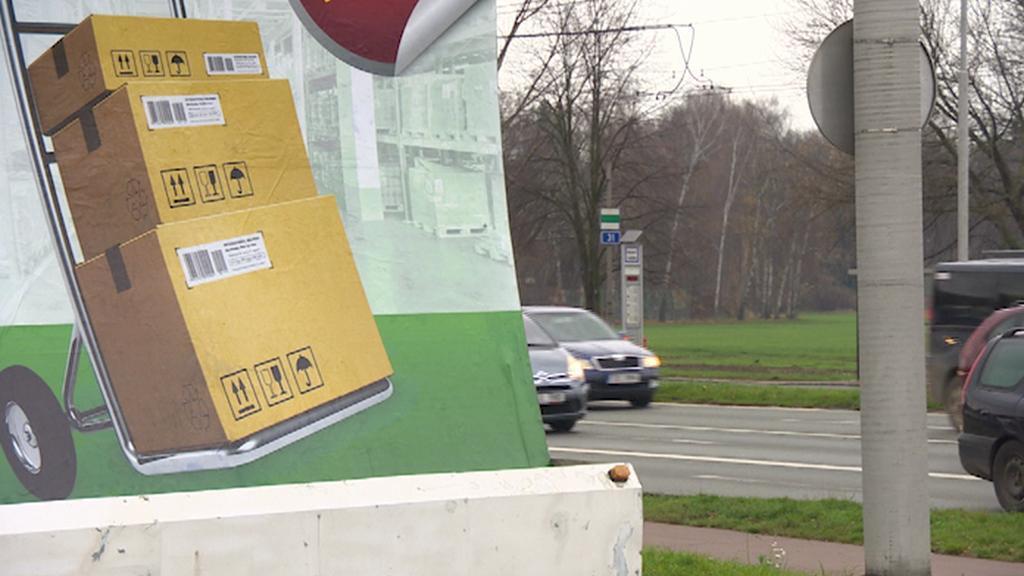 Reklama na vozíku - listopad 2014