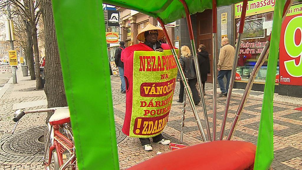 Reklamní kostým v Praze