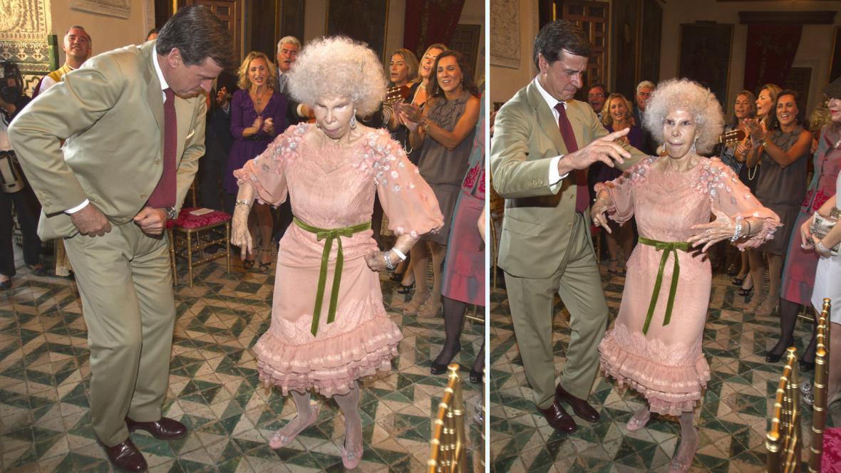 Svatba vévodkyně z Alby a Alfonsa Dieze Carabantese