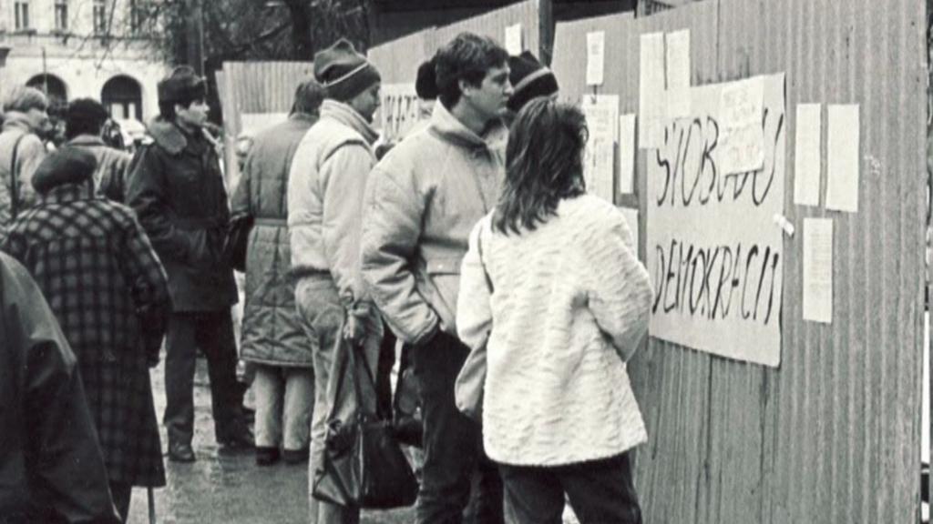 Plzeň - archivní fotografie z listopadu 1989