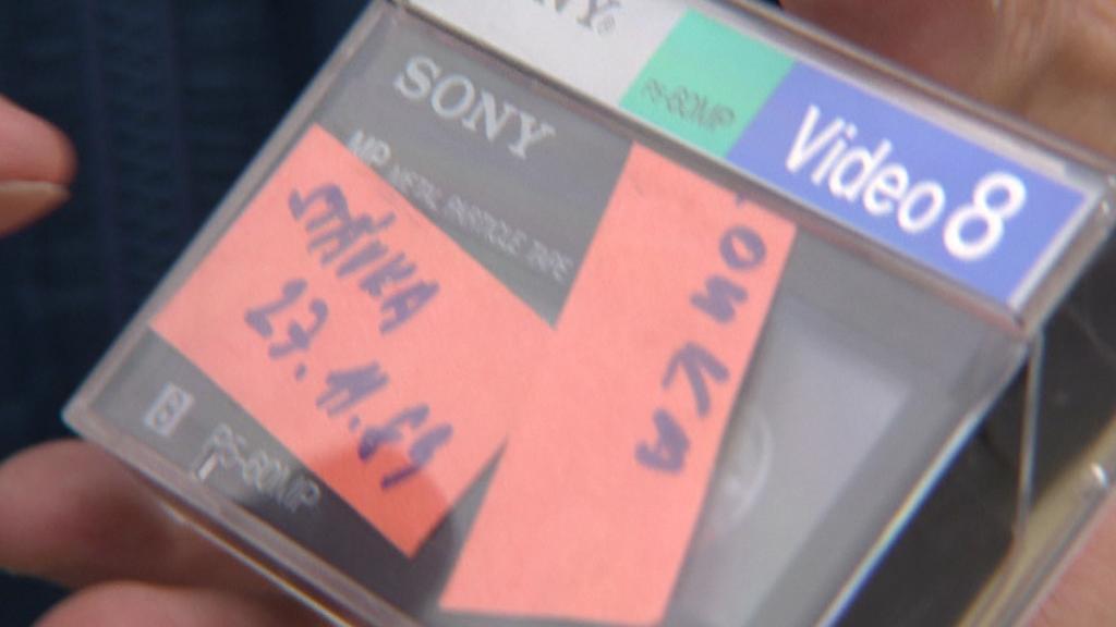 Kazeta se záznamem generální stávky v roce 1989