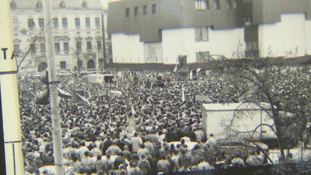 Jihlava - archivní fotografie z listopadu 1989