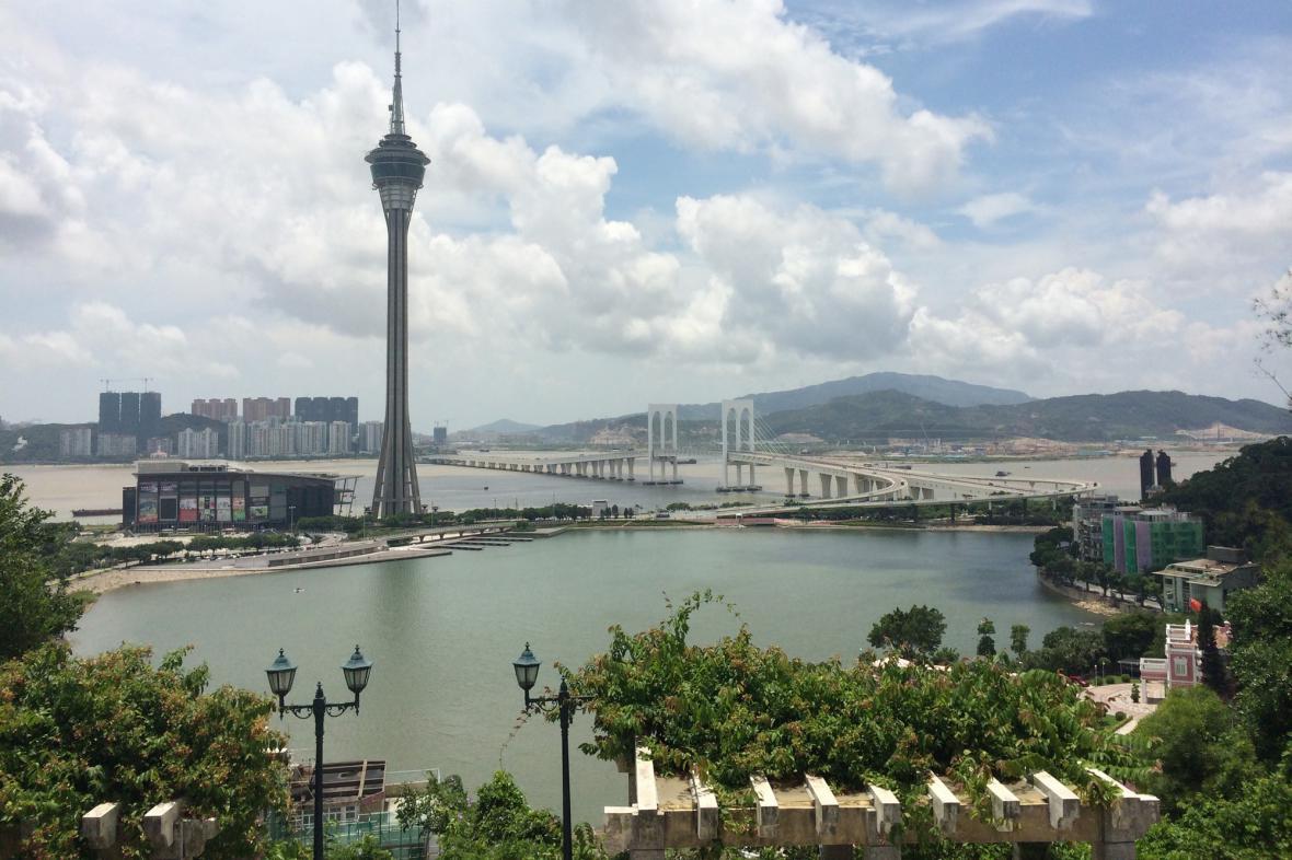 Most spojující Macao s ostrovem Taipa