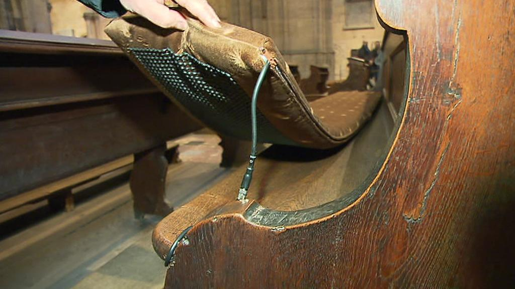 Detail vyhřívání lavice