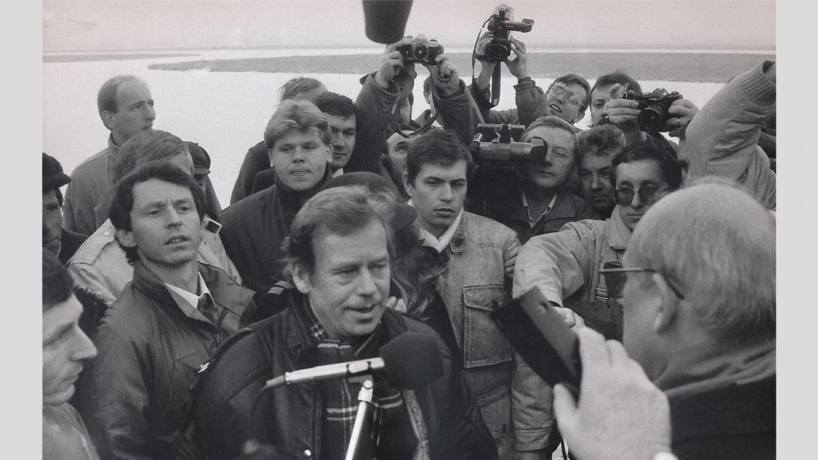 Václav Havel navštívil Ostravu jako nový prezident 3. ledna 1990