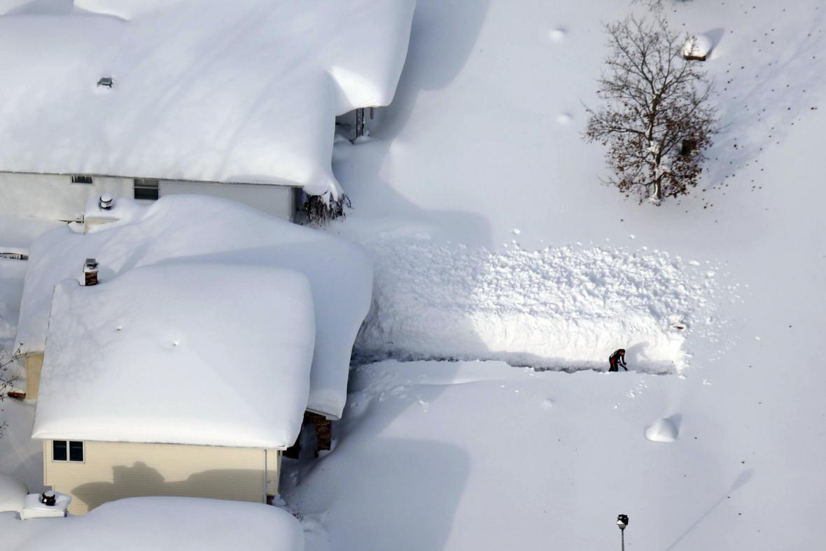 USA pod sněhem