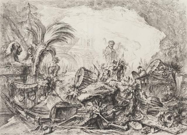 Giovanni Battista Piranesi / Triumfální oblouk, z cyklu Grotesky, 1747-49
