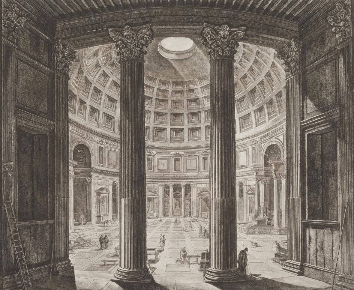 Giovanni Battista Piranesi / Pantheon, z cyklu Římské veduty, 1768