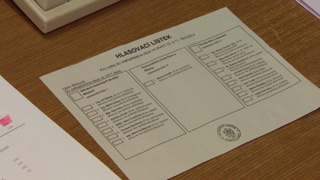 Březová - hlasovací lístek