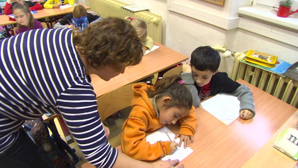 Děti z ubytovny ve škole