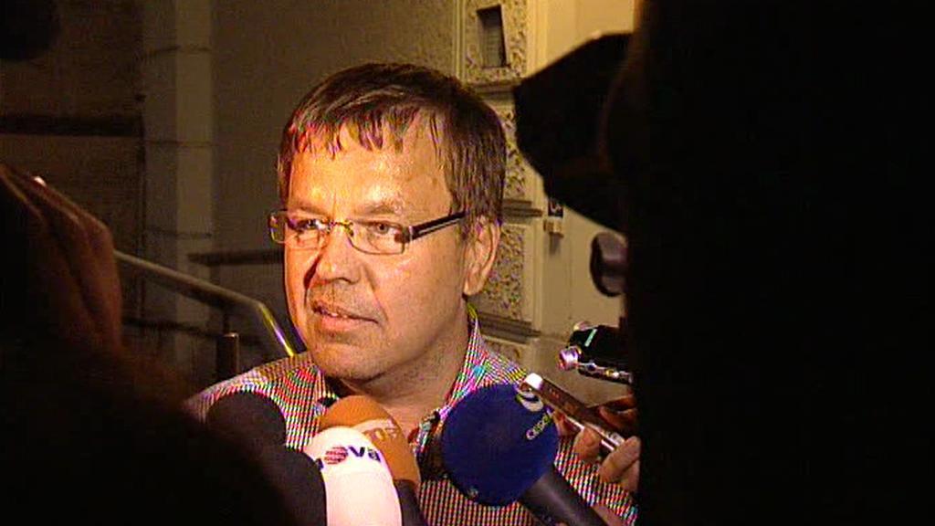 Petr Tluchoř po svém propuštění