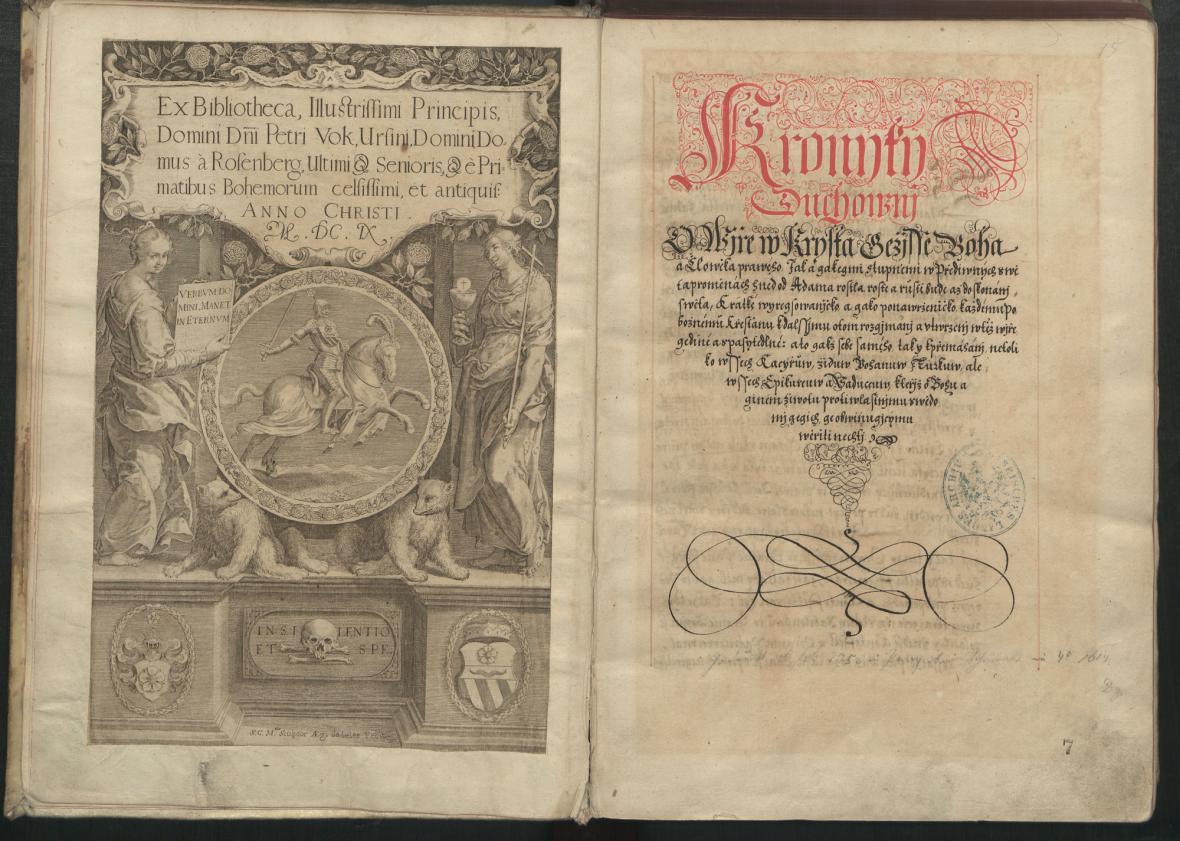 Rukopis z výstavy Navrácená švédská kořist