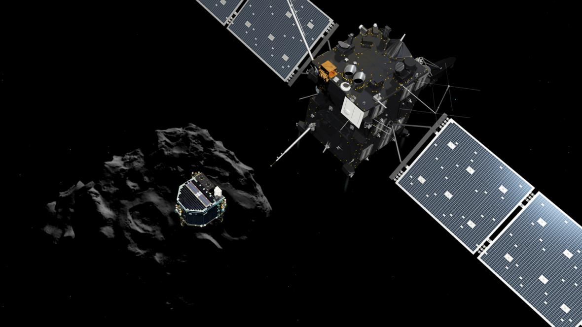 Přistání sondy Philae na kometě 67P/Churyumov-Gerasimenko