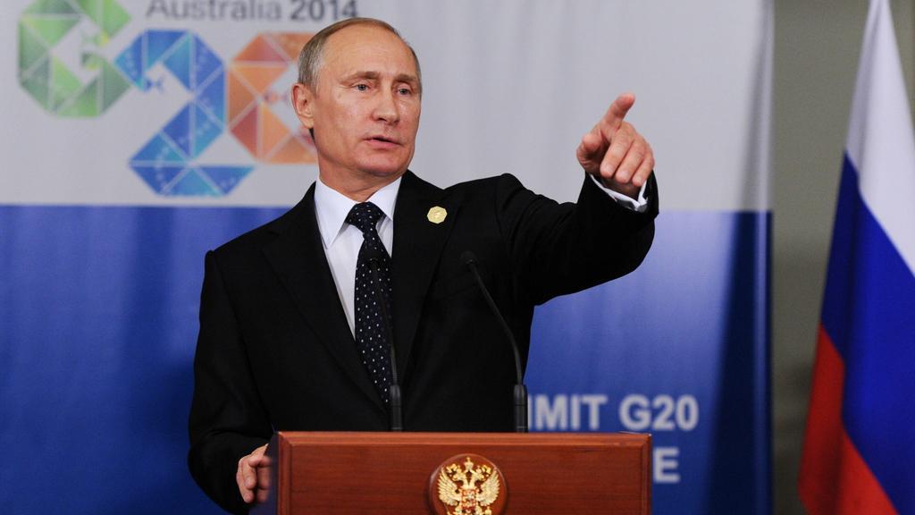 Vladimir Putin na summitu v Brisbane
