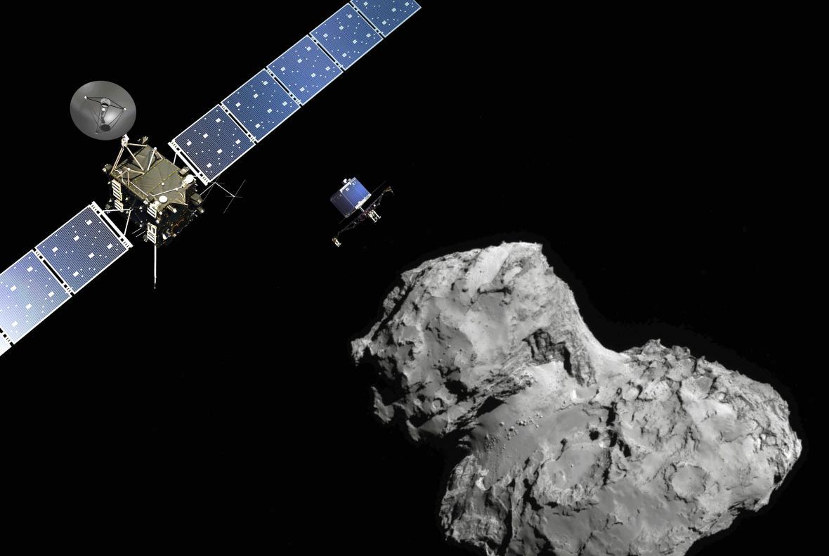 Modul Philae se blíží ke kometě