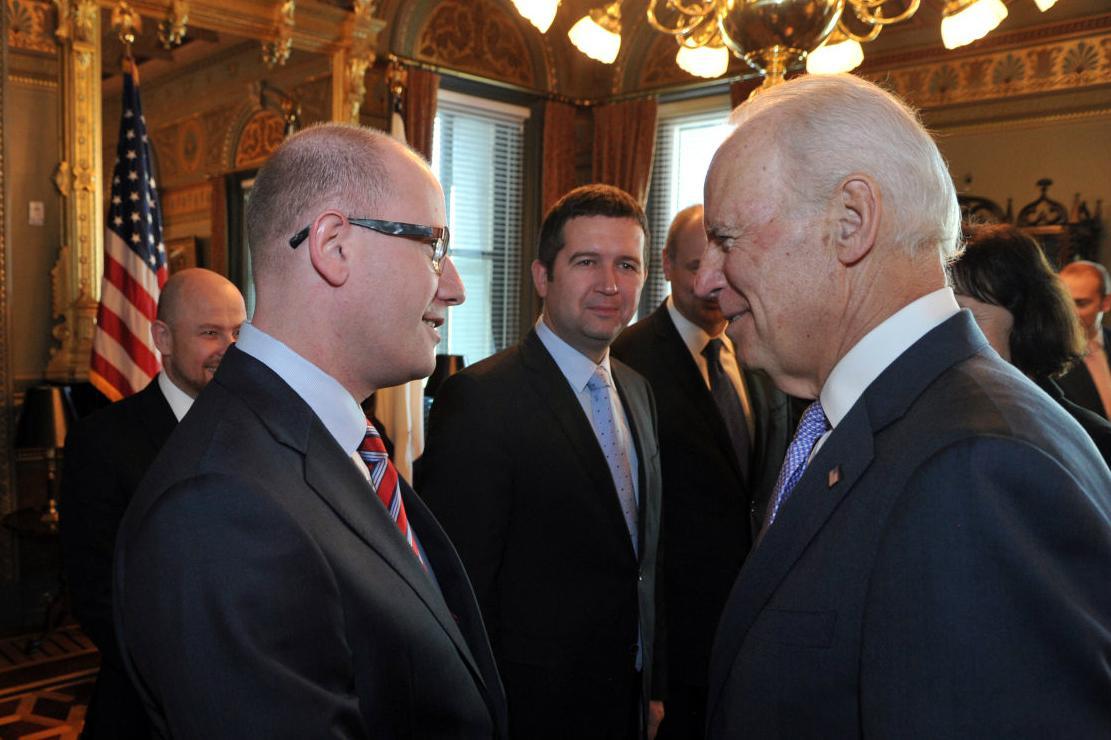 Bohuslav Sobotka se setkal s viceprezidentem USA Joem Bidenem