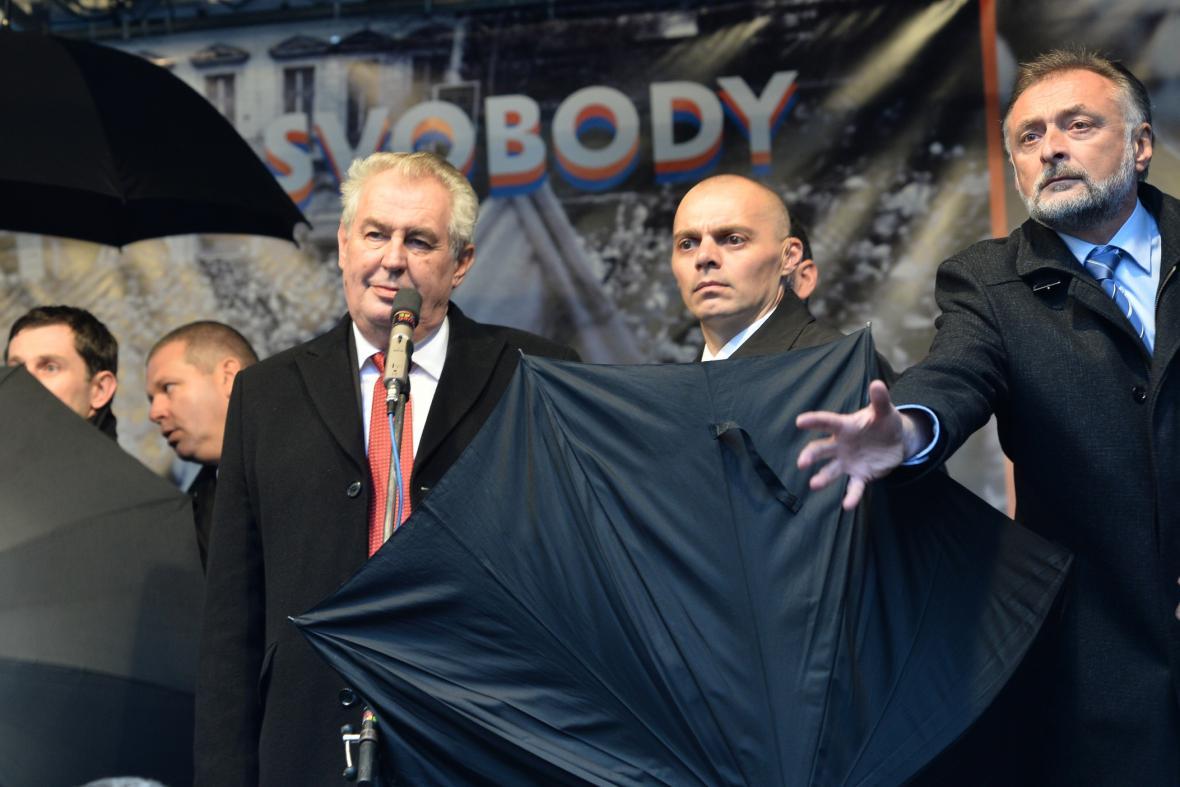 Prezident Miloš Zeman na pražském Albertově