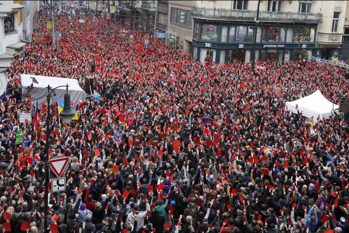 25. výročí 17. listopadu - protest proti Zemanovi