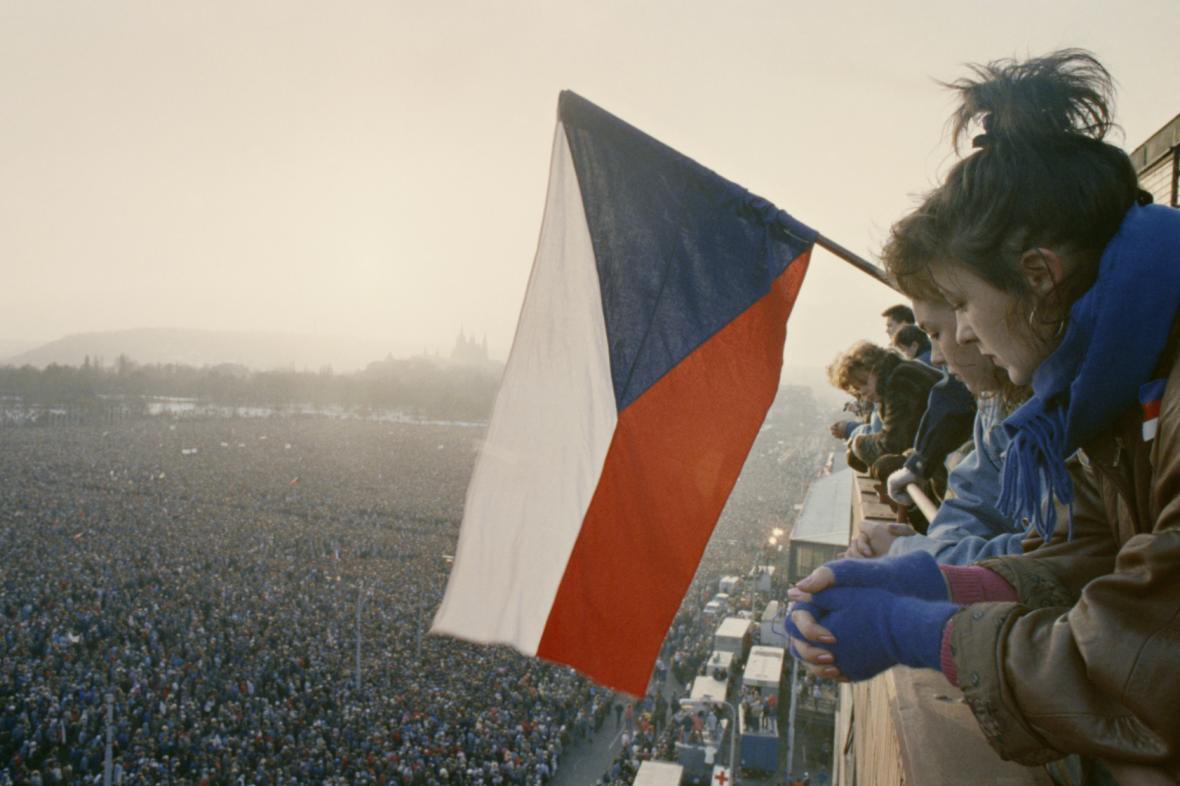 Demonstrace na Letné, listopad 1989