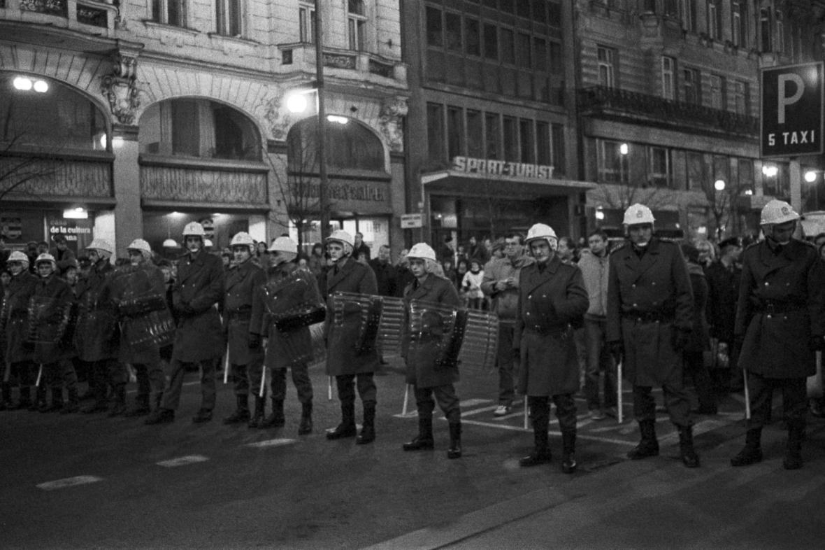Praha v listopadových dnech 1989
