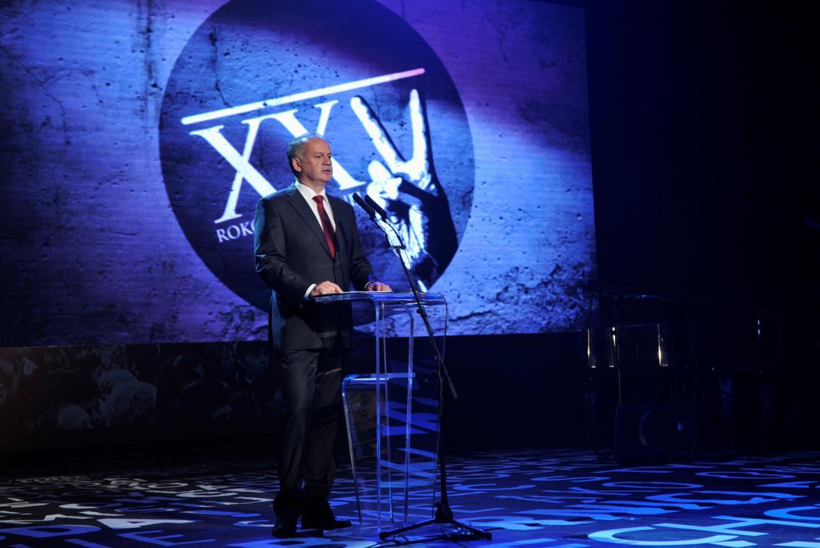 Projev slovenského prezidenta k 17. listopadu