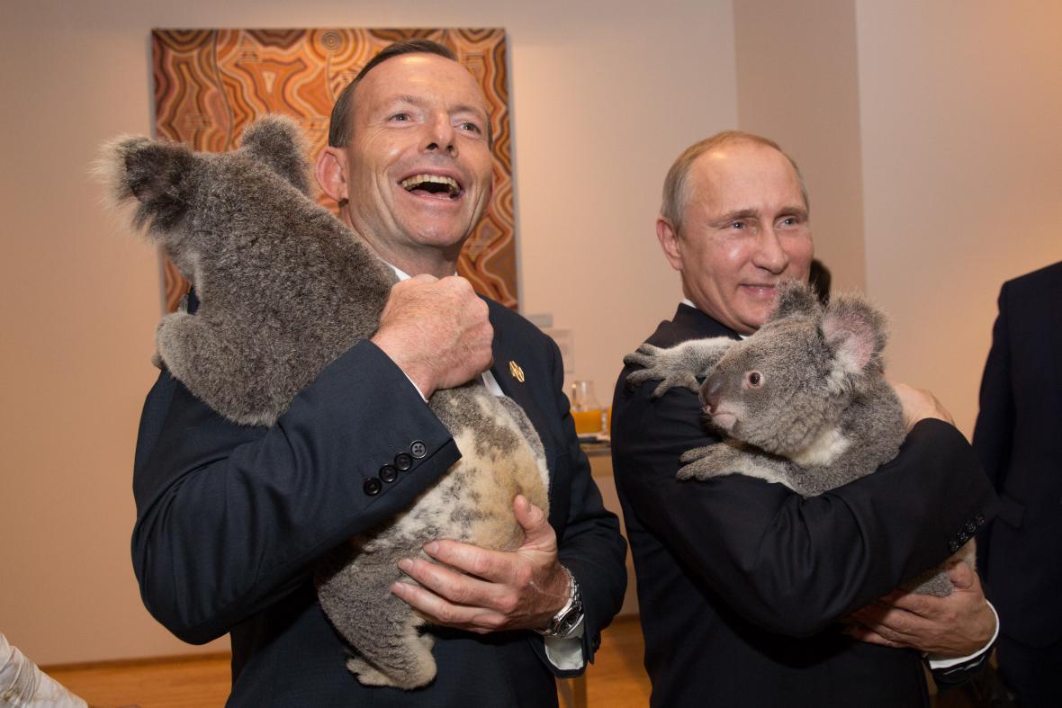 Koaly s australským premiérem a ruským prezidentem