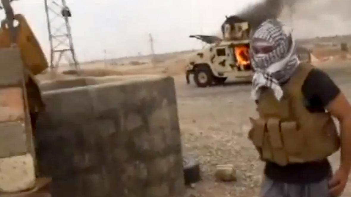 Islámský radikál z ISIL na severu Iráku