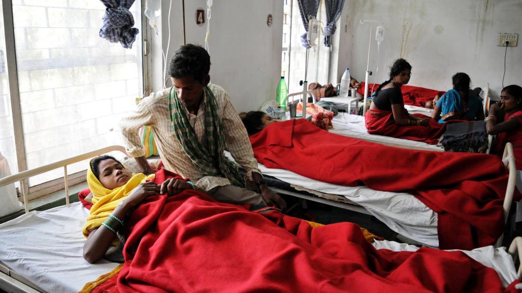 Hospitalizované ženy v Bilasporu