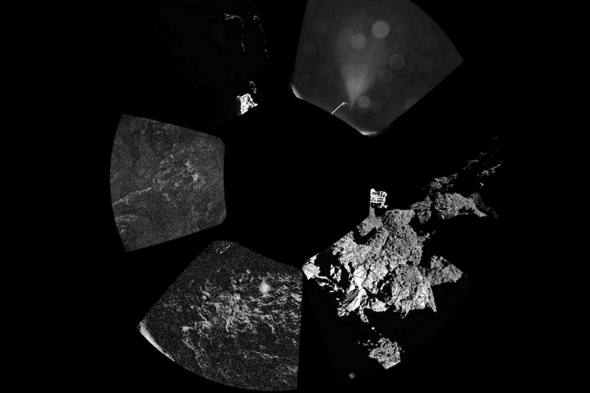 První panoramatický snímek komety 67P/Churyumov-Gerasimenko