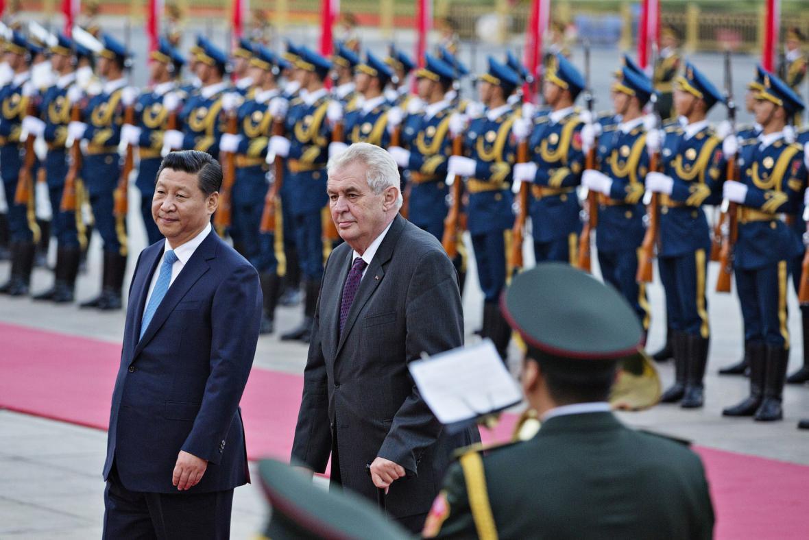 Český prezident s čínským prezidentem