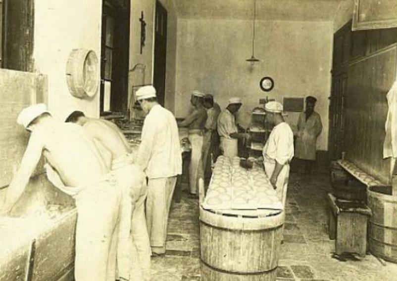 Práce vězňů na Pankráci - archivní snímek