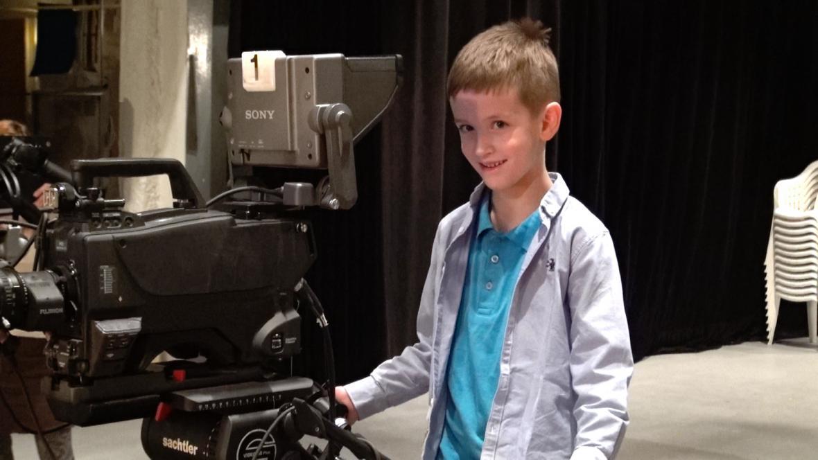 Malý Ondra za kamerou
