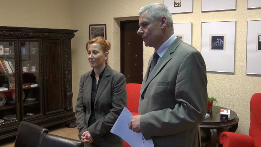 Starostka Litvínova Kamila Bláhová a místostarosta Milan Šťovíček