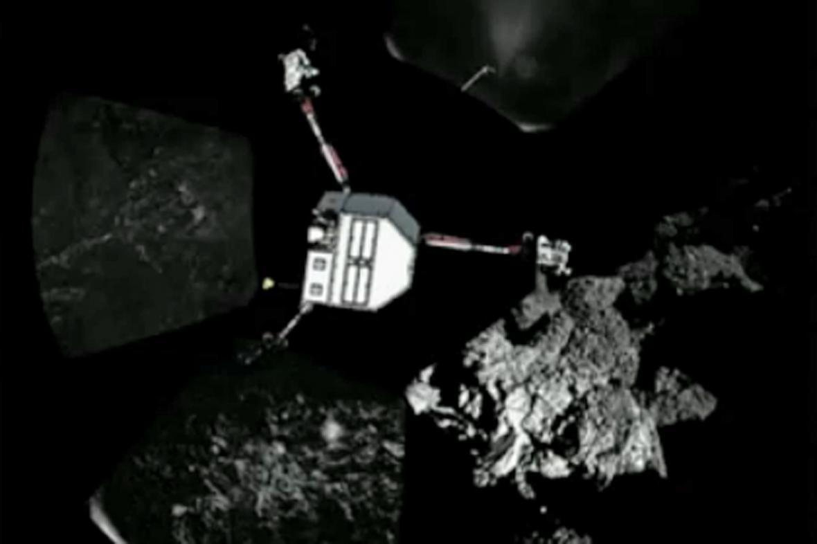 Záběry modulu Philae z komety 67P/Churyumov-Gerasimenko
